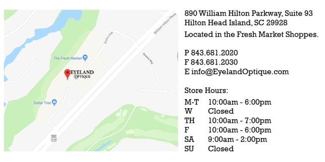 eyeland optique location information